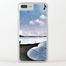 St Lucia Boat Clear iPhone Case