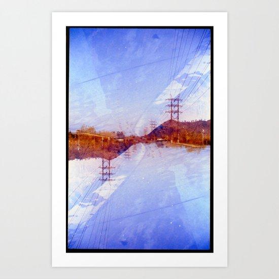 LA RIver3 (35mm multi exposure) Art Print