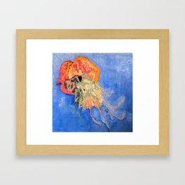Jellyfish Fiber Art Framed Art Print