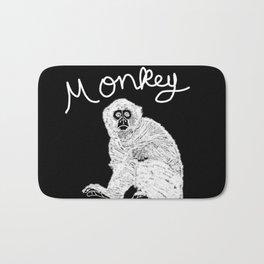 Monkey (Black and White) Bath Mat