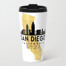 SAN DIEGO CALIFORNIA SILHOUETTE SKYLINE MAP ART Travel Mug