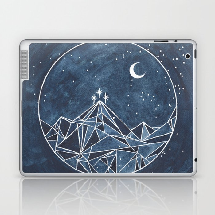 Night Court moon and stars Laptop & iPad Skin