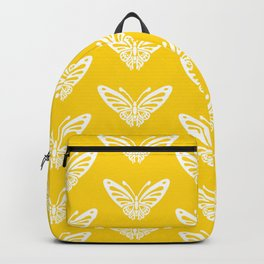 Butterfly Pattern Yellow Backpack