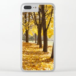 Alley yellow maple Clear iPhone Case