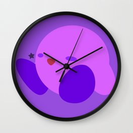Kirby(Smash)Purple Wall Clock