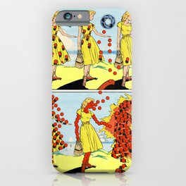 Red Bullets Dress Girl On Fire iPhone Case
