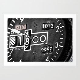 Altimeter Art Print