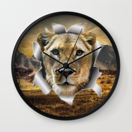 Lioness from Africa Wall Clock