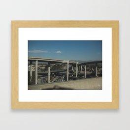Highways in Los Angeles Framed Art Print