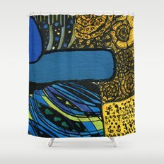 town by the ocean Shower Curtain