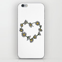 Daisy Chain Heart iPhone Skin