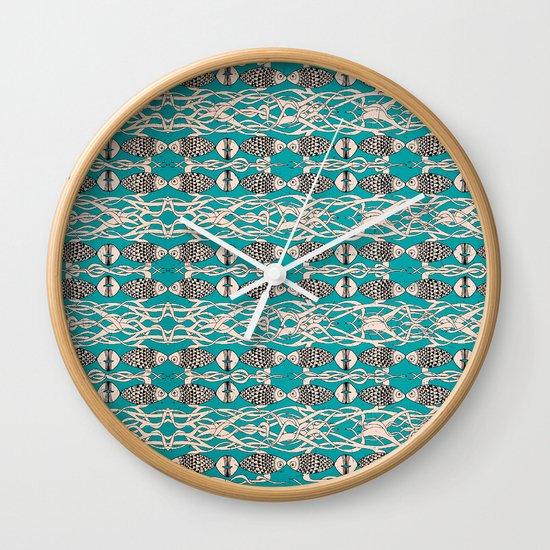 Underwater Pattern Wall Clock