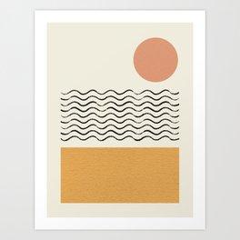 Sun Wave Beach - Abstract Art Print