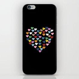Hearts Heart Black iPhone Skin
