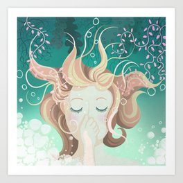 Watery day dreams Art Print
