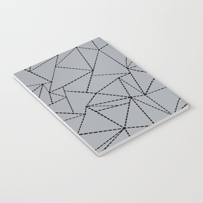 Ab Dotted Lines B on Grey Notebook