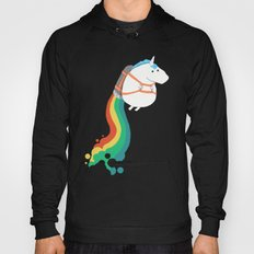 Fat Unicorn on Rainbow Jetpack Hoody