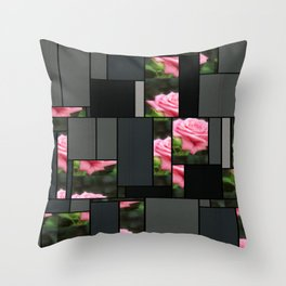Pink Roses in Anzures 3 Art Rectangles 7 Throw Pillow