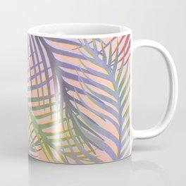 Palm Leaves Pattern - Purple, Peach, Blue Coffee Mug