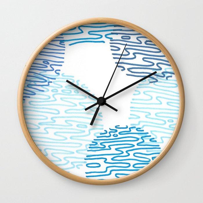 Denim Discoid Wall Clock