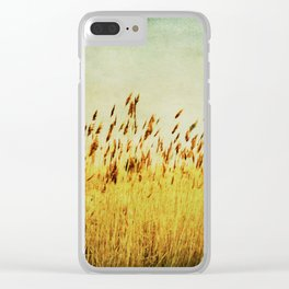 Winter Gold Clear iPhone Case
