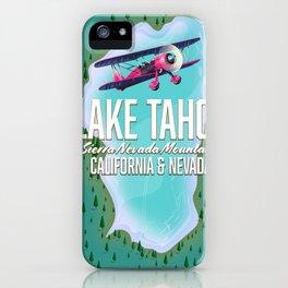Lake Tahoe map iPhone Case