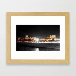 night time santa monica  Framed Art Print