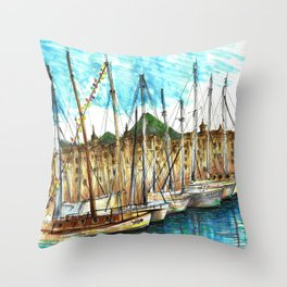 sicily port see Throw Pillow