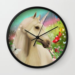 Magical Forest Unicorn Wall Clock