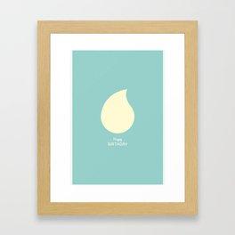 Happy Birthday - Light Framed Art Print