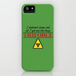 Lousy Triforce iPhone Case