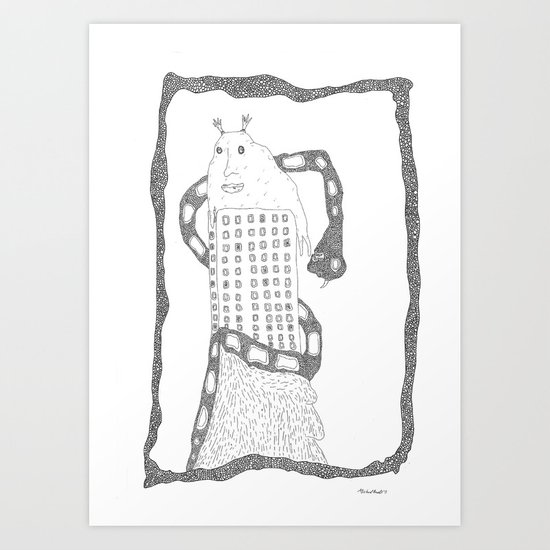 i can see you, we can see Art Print