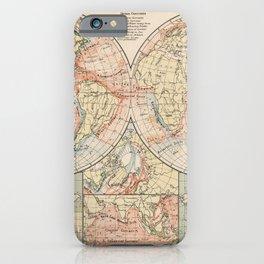 Vintage World Ocean Currents Map (1905) iPhone Case