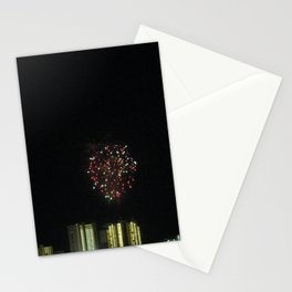 fireworks over Gulf Shores skyline Stationery Cards