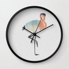 Pastel Flamingo Wall Clock