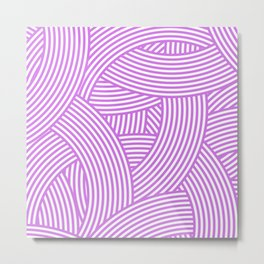 New Weave in Radiant Orchid Metal Print