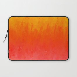 Coral, Guava Pink Abstract Gradient Laptop Sleeve