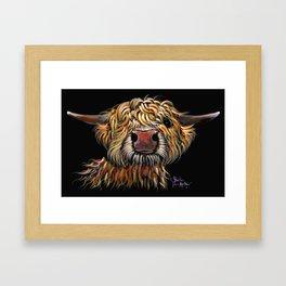 Scottish Highland Cow ' POPEYE ' by Shirley MacArthur Framed Art Print