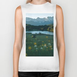 Sunrise at a mountain lake with forest - Landscape Photography Biker Tank