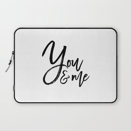 you and me embroidery wedding embroidery design ampersand applique Laptop Sleeve