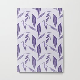 Ultraviolet Foliage #society6 #pattern #ultraviolet Metal Print
