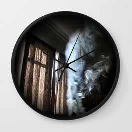 Painting with Smoke - Mother Bird Wall Clock
