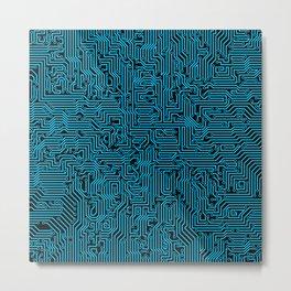 Reboot BLUE Metal Print