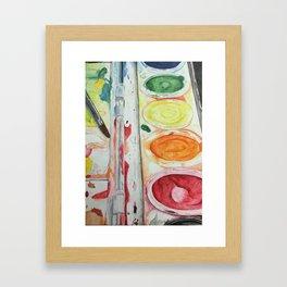 Paint Palette Framed Art Print