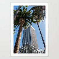 ashton irwin Art Prints featuring Robert Irwin Primal Palm Garden by The Horticult