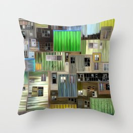 Sound of the favelas Throw Pillow