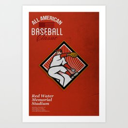 All American Baseball Classic Vintage Poster Art Print