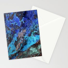 Malachite Mineral Stone rustic decor Stationery Cards