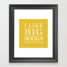 i like big books Framed Art Print