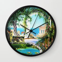 Cozy courtyard # 2 Wall Clock